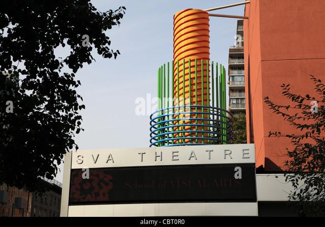 SVA Theatre in New York City - Stock-Bilder