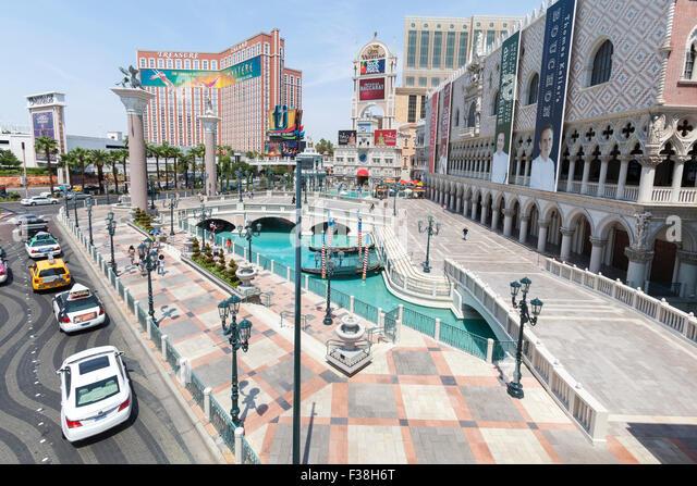 Hotels, Resorts and Casinos on the Las Vegas Blvd, Las Vegas, Nevada. - Stock-Bilder