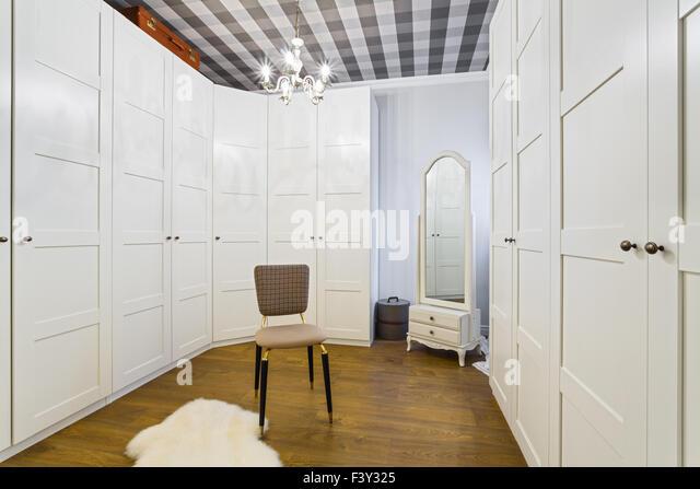 Luxury Wardrobe Room - Stock Image