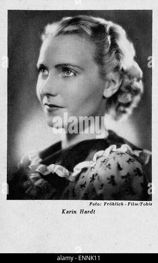 Deutschland 1930er jahre german actress karin hardt on a post card