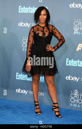 Santa Monica, CA. 11th Dec, 2016. Kerry Washington at arrivals for 22nd Annual Critics' Choice Awards, Barker - Stock Image