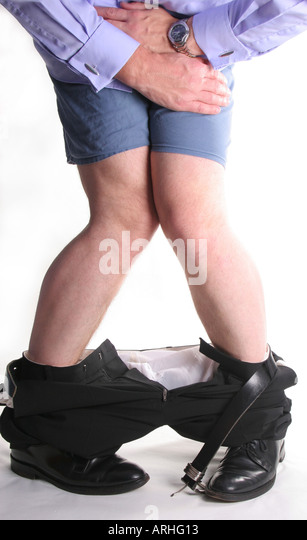 embarassed businessman - Stock Image