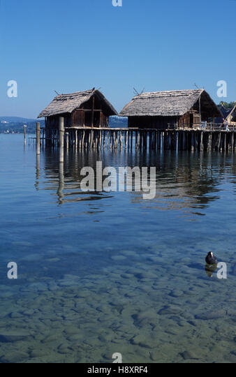 stilt houses unteruhldingen baden wuerttemberg stock photos stilt houses unteruhldingen baden. Black Bedroom Furniture Sets. Home Design Ideas