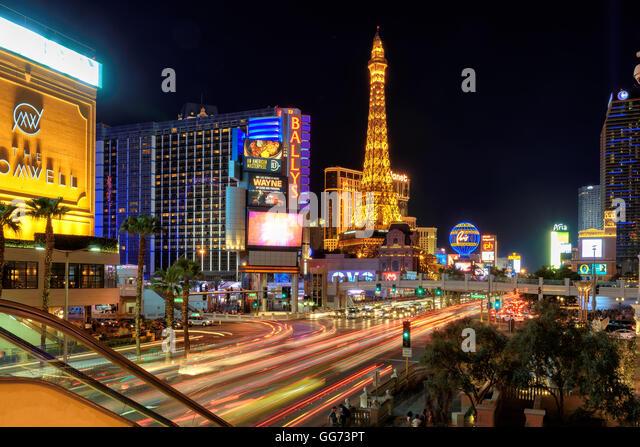 View of the Las Vegas Strip - Stock Image