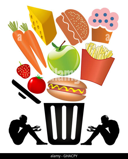 Food Waste and Poverty - Stock Image