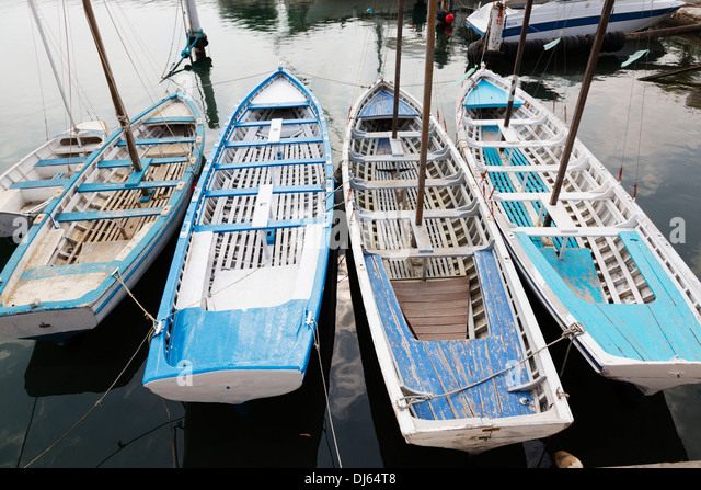 Training boats used by Larnaca Sea Scouts, Cyprus. - Stock Image