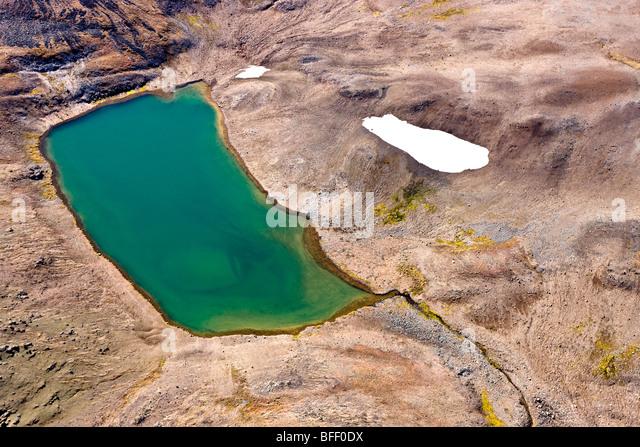 volvanic landscape in the Rainbow Mountains of British Columbia Canada - Stock Image