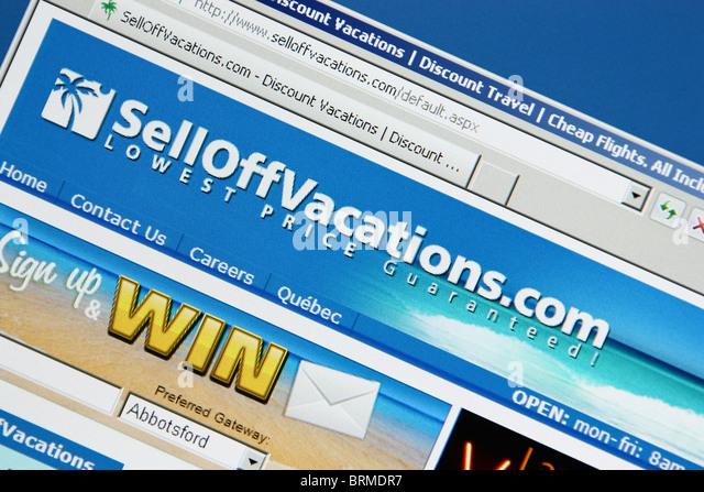 online travel booking selloffvacation - Stock-Bilder