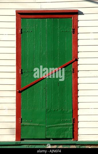 St Kitts West Indies Caribbean Basseterre Colorful Doorway - Stock Image
