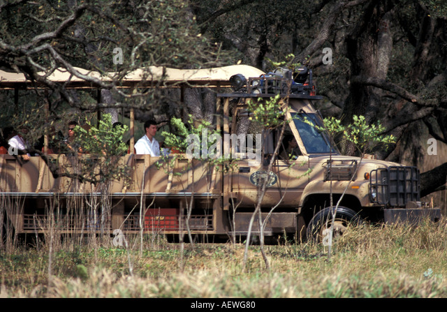 Orlando Florida Fl Disney World Animal Kingdom Kilimanjairo Safari Truck - Stock Image