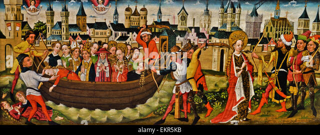 Cologne 1455 – 1460 Legend of St Ursula; Return to Basel German Germany - Stock Image