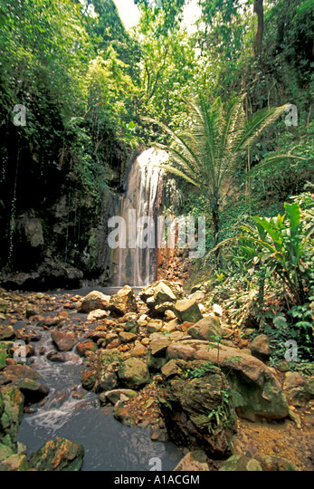 St Lucia  Diamond Waterfalls - Stock Image