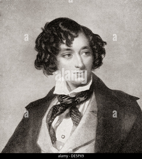 Benjamin Disraeli, 1st Earl of Beaconsfield, 1804— 1881, as a young man.  Prime Minister United Kingdom. - Stock Image
