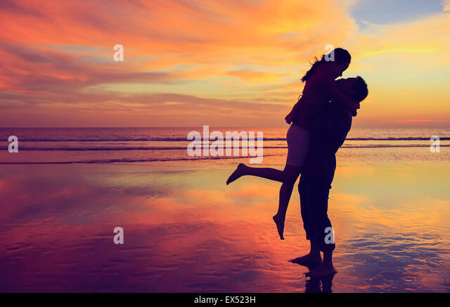 Love Sunset - Stock Image