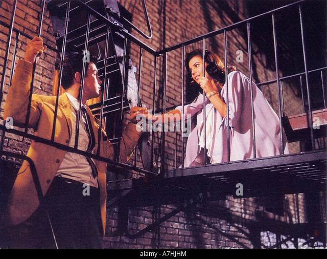 WEST SIDE STORY 1961 UA film with Nathalie Wood and Richard Beymer - Stock Image