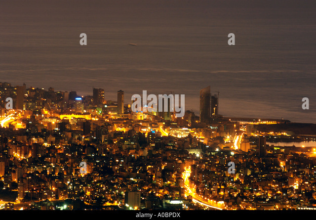 General views of Beirut, Lebanon. - Stock Image