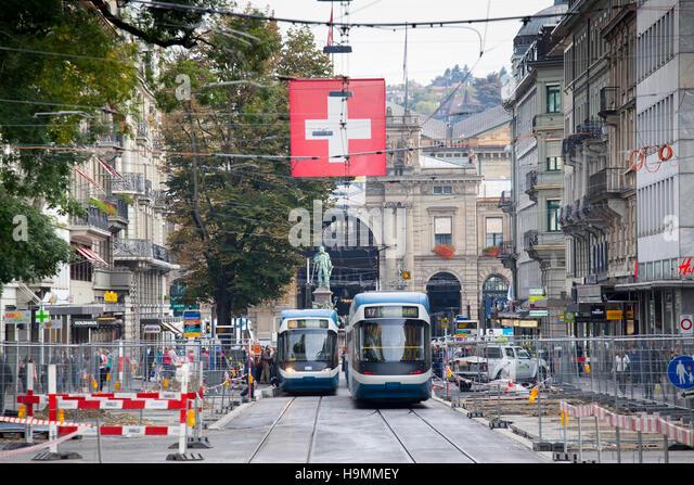 Zurich Public Transport (VBZ), Zurich, Switzerland - Stock Image