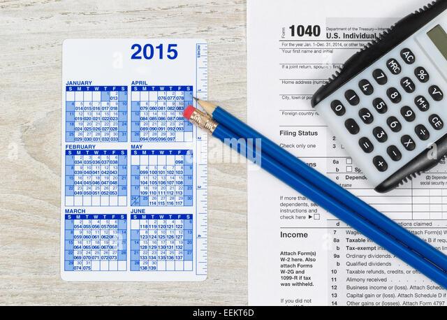 Taxation office usa stock photos taxation office usa for 1040 tax table calculator