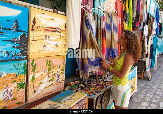 Bazaar in Houmt Souk, Island of Jerba, Tunisia, North Africa, Africa - Stock Image