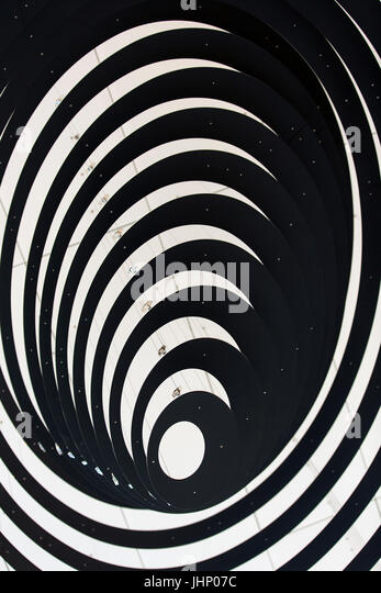 abstract spiral art work - Stock Image