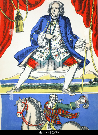 George II, King of Great Britain and Ireland from 1727, (1932). Artist: Rosalind Thornycroft - Stock Image