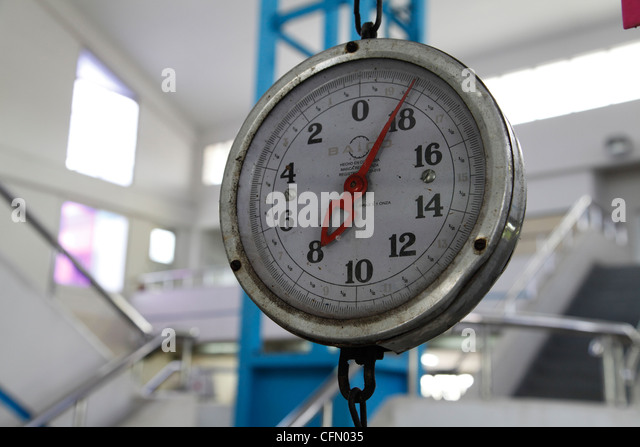 Weighing scales fish market stock photos weighing scales for Fish weighing scales
