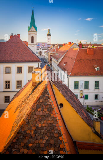 Zagreb is a vibrant city of around 800,000 people, that boasts a charming medieval 'old city'. - Stock Image