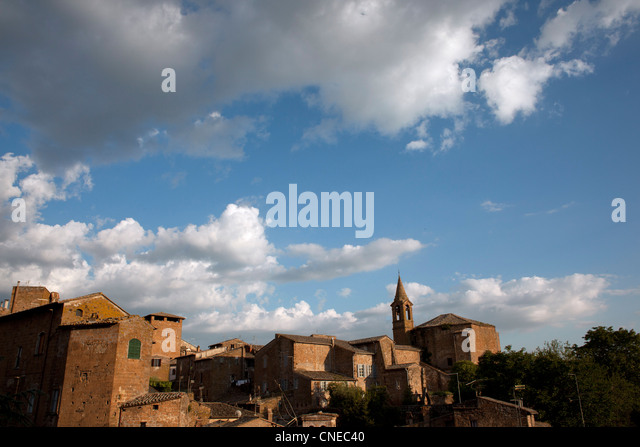 View of the Mideval Quarter in the Umbrian town of Orvieto, Italy - Stock Image