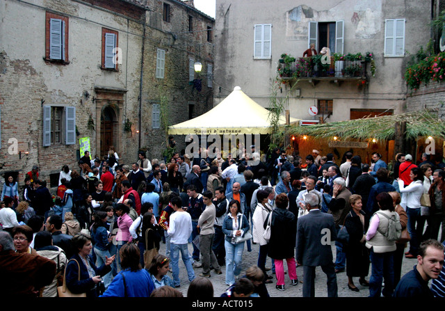 In the Autumn,Le Marche, Italy celebrates it's  locally produced foods and enjoys chestnut festivals - Stock Image