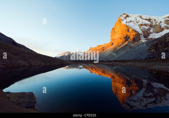Laguna del Avellanal, Cerro de Ritacuba, 5230m, El Cocuy National Park, Colombia, South America - Stock Image