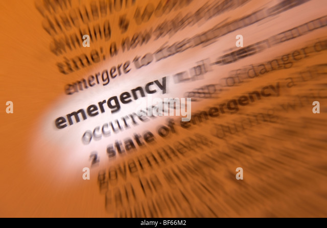 Concept - Emergency - Stock Image