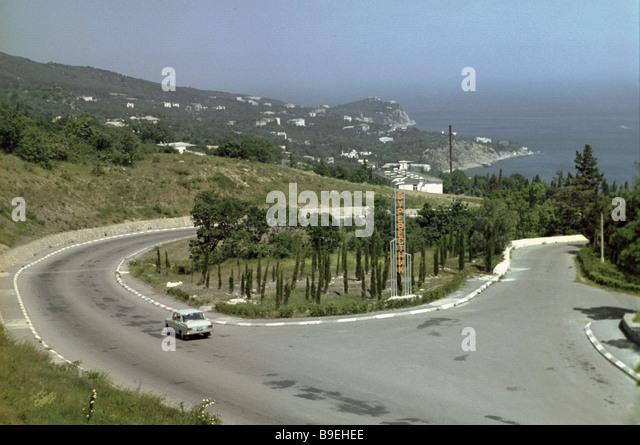 Roads in the Crimea - Stock Image