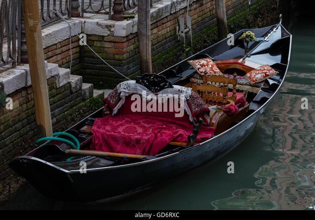 Venetian gondola - Stock Image