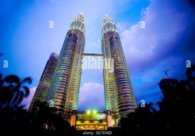 Petronas Towers, Kuala Lumpur, Malaysia - Stock-Bilder