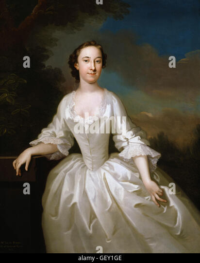 John Wollaston - Portrait of Lucy Parry, Wife of Admiral Parry - Stock Image