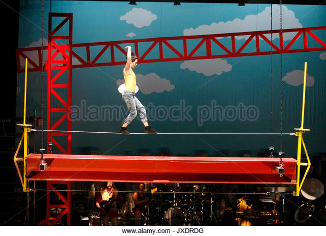 Performers. 'Circus of Oz' media call at the His Majesty's Theatre in Perth, Western Australia on August - Stock Image