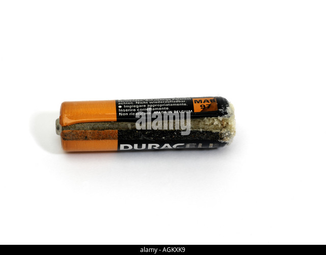 Corroded Battery - Stock Image