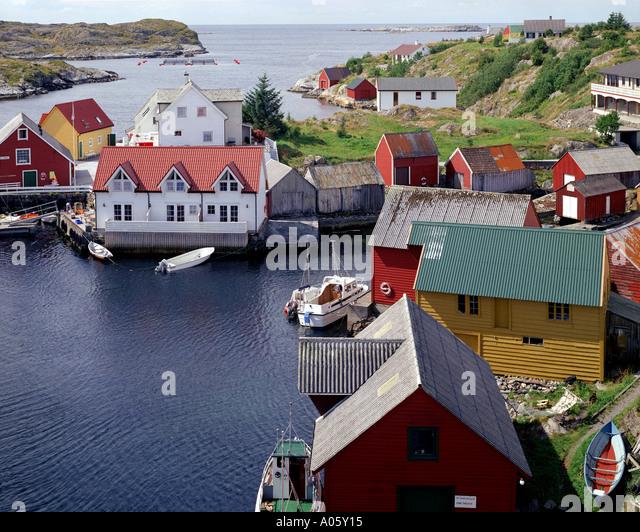 NO - STORE ISLAND: Settlement of Nautnes - Stock-Bilder