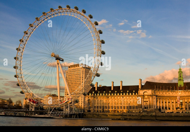 The London Eye Ferris Wheel - Stock Image