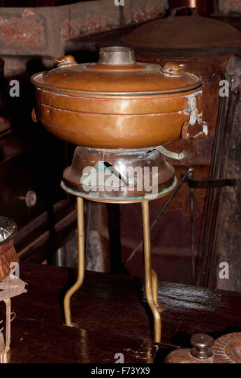 Antique stove, goa, india, asia - Stock Image