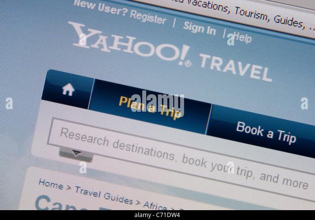 yahoo travel online website - Stock-Bilder