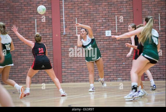 Swansea University v Cardiff University Varsity 2014 Netball - Stock Image