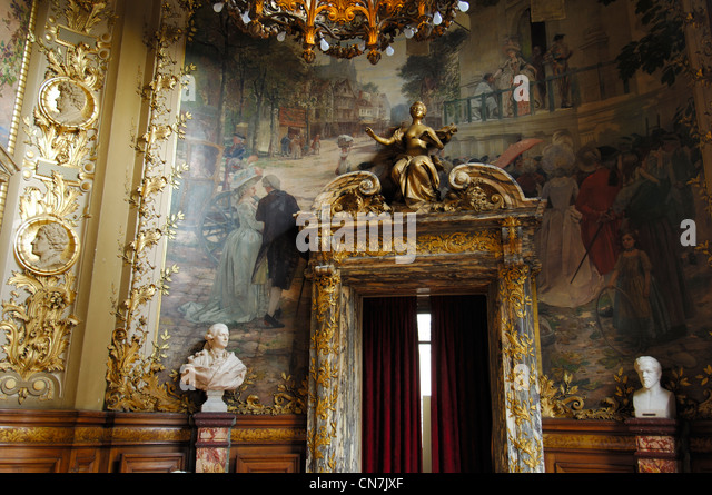 France, Paris, the opera Comique sometimes referred to as the Salle Favart is located in Place Boieldieu - Stock Image