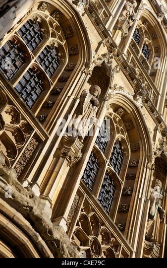 Decorative stonework, Cambridge, England - Stock Image