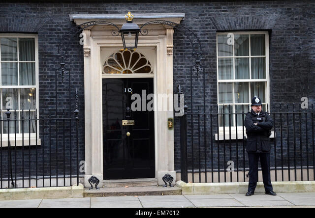 Number 10 downing street police stock photos number 10 for Front door 10 downing street