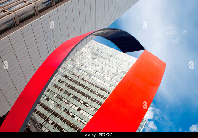 Sweden Stockholm - art and office highrises at hotorget in the city - Stock Image