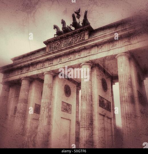 Brandenburg Gate, Berlin, Germany - Stock Image