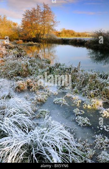 Winter River Landscape - Stock-Bilder