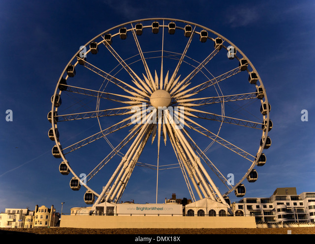The Brighton Wheel at sunset - Stock Image