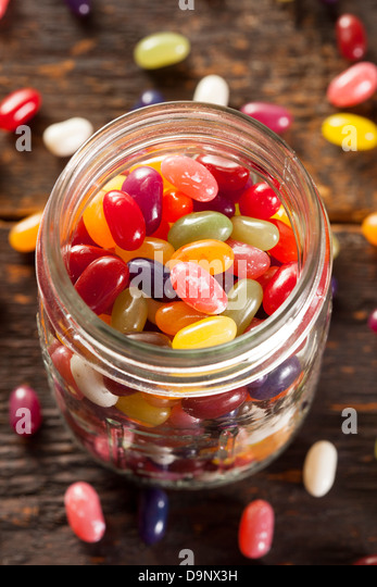 Colorful Mixed Fruity Jelly Beans on a background - Stock-Bilder